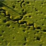 Vue aérienne des tranchées à Beaumont-Hamel, Somme. Série The Western Front. Photographie © Michael St. Maur Sheil